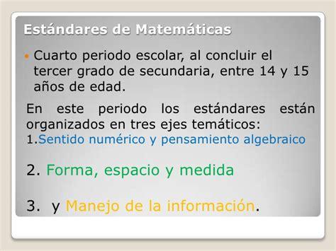 estandares de matematica 2 est 225 ndares de matem 225 ticas