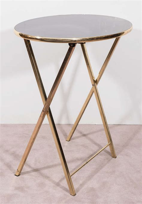 Dinner Tray Tables by Set Of Four Regency Brass Frame Dinner Trays