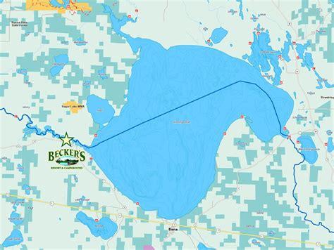 lake mn lake winnibigoshish map my