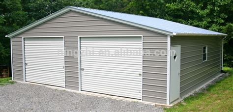 two door garage two door garage portable metal garage steel structure