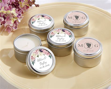 Wedding Favors Tins by Personalized Garden Travel Candle My Wedding Favors