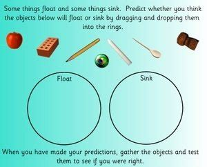 floating and sinking science teaching and topic resources
