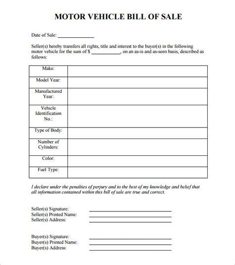 free texas motor vehicle bill of sale form pdf eforms free