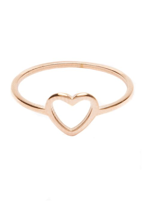 Ring Ring herz ring in rosegold happiness boutique