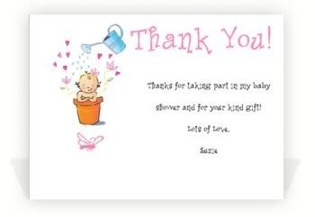 Thank You Card Sayings For Baby Shower Gifts - baby shower thank you notes sle thank you notes