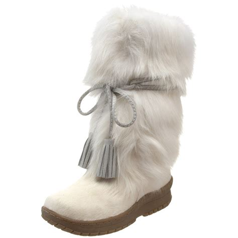 winter white fur boots for infobarrel