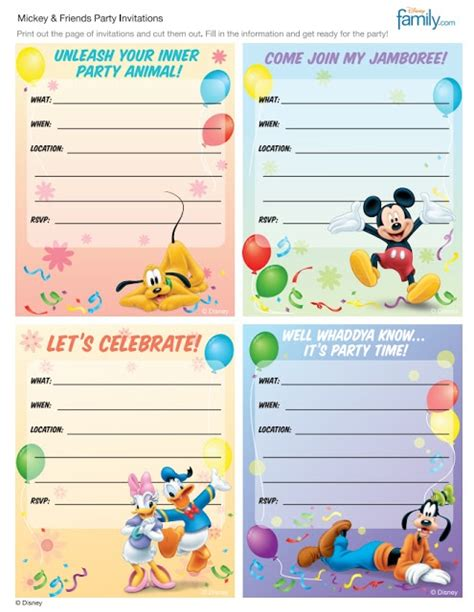 printable invitations disney 170 best free printable birthday party invitations images