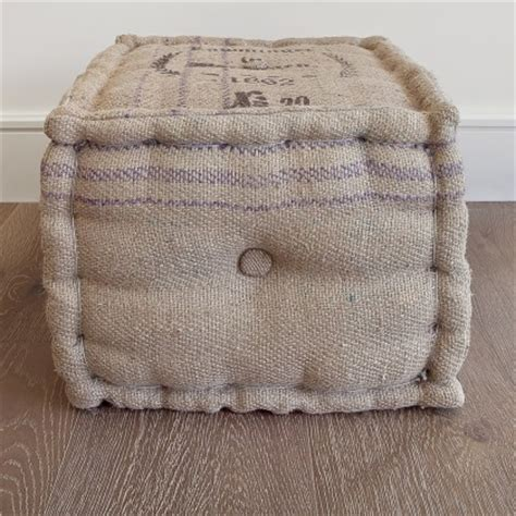 burlap pouf floor pillows and poufs san francisco by