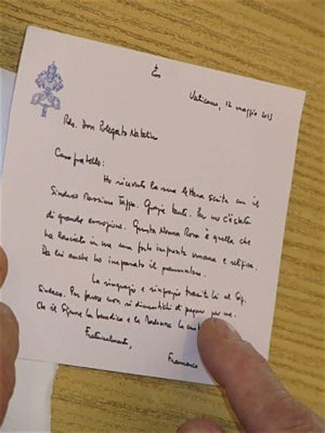 lettere a papa francesco papa francesco quot grazie don natalino mi hai fatto