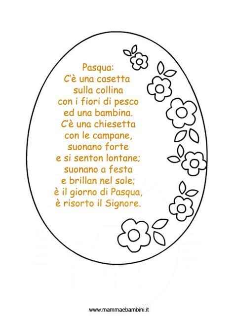 cornici per poesie poesia per pasqua con cornice ad uovo mamma e bambini