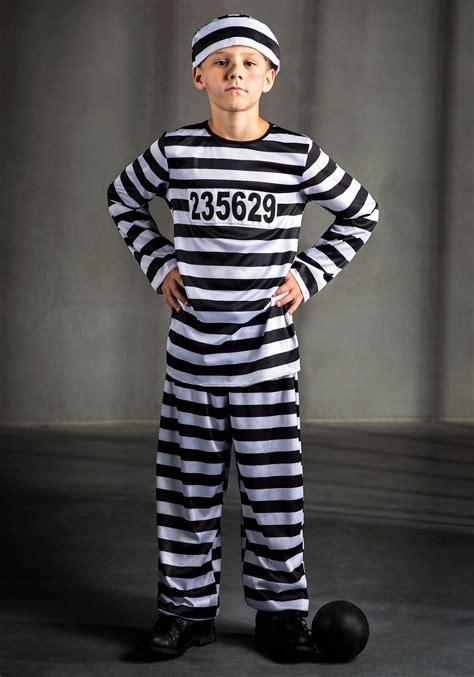 kids inmate prisoner costume boys classic convict costumes