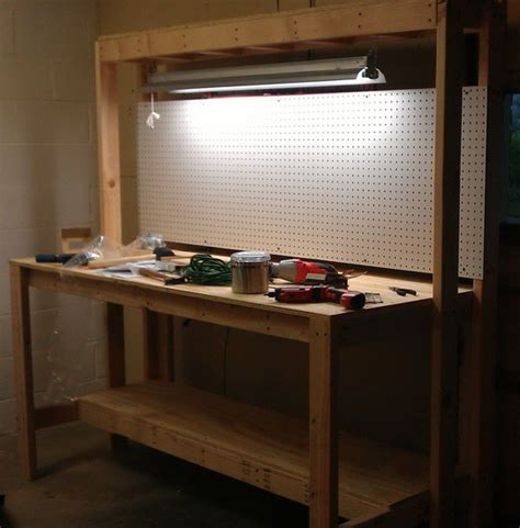 How To Build A Workbench For Garage by Garage Workbench On Workbench Plans