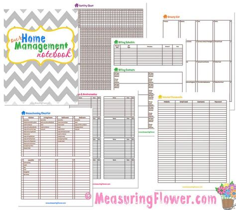 free printable household notebook planner pages 201 best images about daily monthly planners calendars
