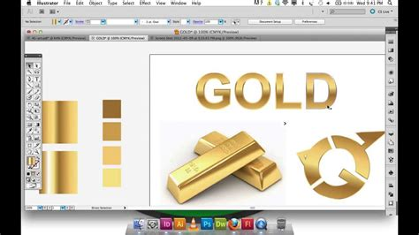 adobe illustrator gradient gold text logo