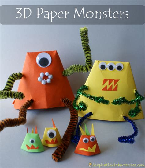 How To Make Paper Monsters - cardboard monsters inspiration laboratories