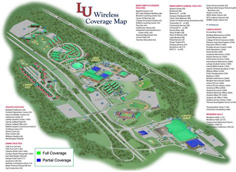 liberty university cus map liberty university wireless coverage map