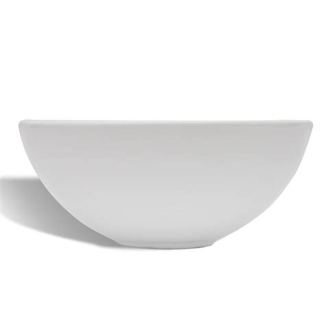ceramic bathroom basins ceramic bathroom sink basin white round vidaxl co uk
