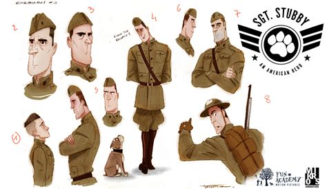 Sgt Stubby An American Cast Wwi Sergeant Story Set To Be 2018 Animated Rotoscopers