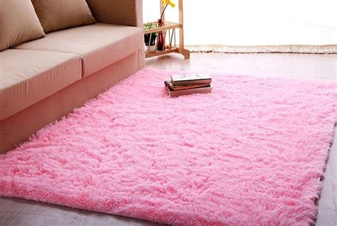 pink rugs for bedroom ltra soft 4 5 cm thick indoor morden area rug baby pink shag 4 x 5 ebay