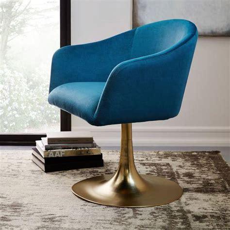 velvet swivel desk chair roar and rabbit blue lichen swivel chair