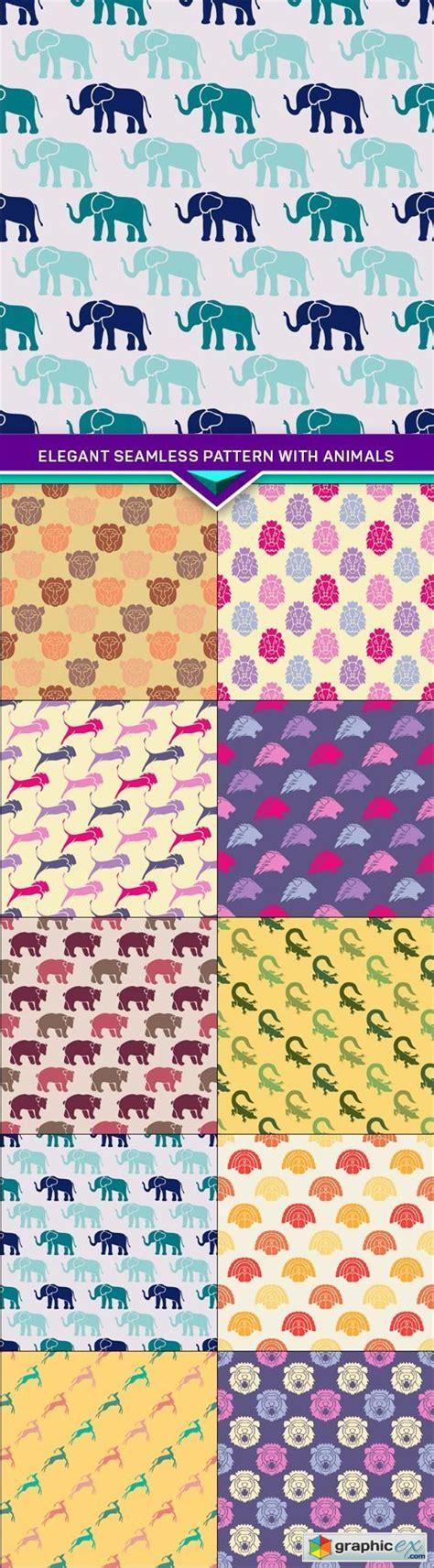 seamless pattern app elegant seamless pattern with animals 10x jpeg stock