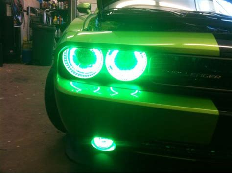 2012 dodge challenger with aac oracle halo rings installed