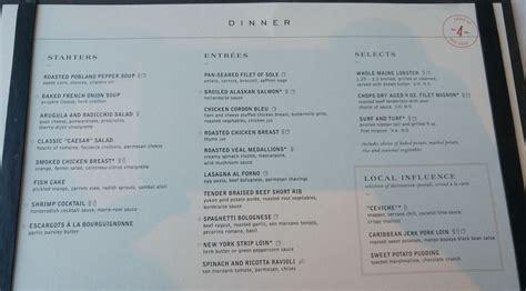 of the seas room service menu crafting royal caribbean s dining room menu yyz travel