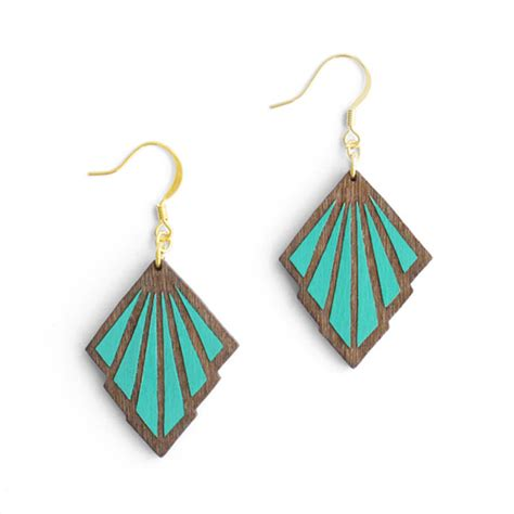 goutte art deco earrings by materia rica