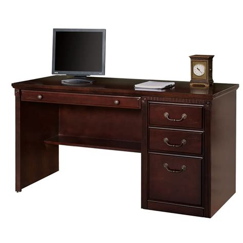 Office Desks Ireland Kathy Ireland Home Club Computer Desk In Vibrant Cherry Hcr540 D