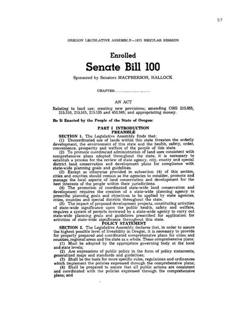 legislative template senate bill 100