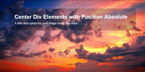 html div position absolute position absolute center horizontal div elements html
