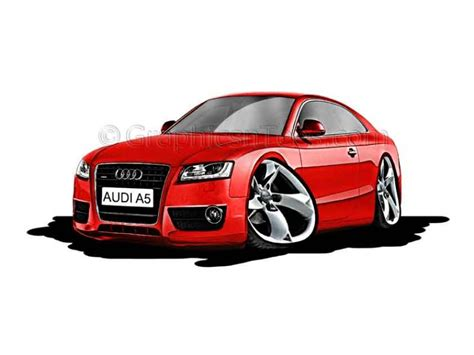 cartoon audi audi a5 cartoon caricature