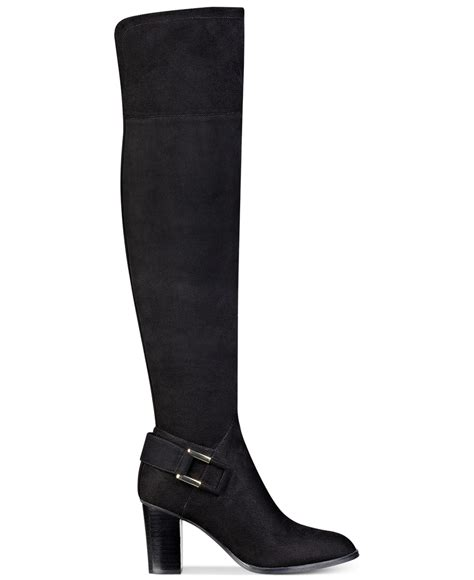 marc fisher boots lyst marc fisher christyna knee high boots in black