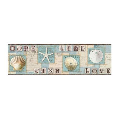 cat wallpaper borders murals starfish and seashells wallpaper border aqua beach