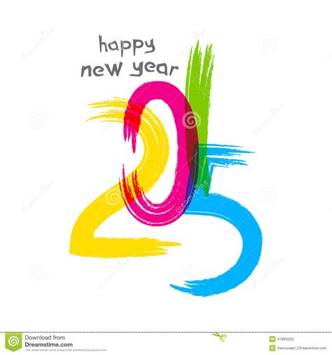 new year creative greetings new year 2015 greeting design stock vector image 47884255
