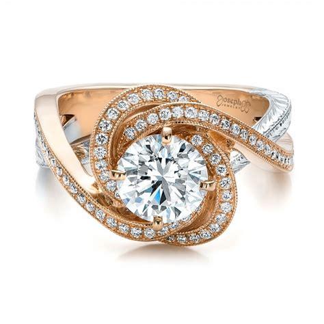 custom gold and platinum engagement ring 100822