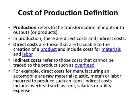 Costs Of Production Worksheet by Chapter 6 Cost Of Production Ppt