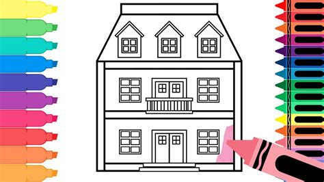 how to draw a doll house how to draw a doll house learn drawing for kids art