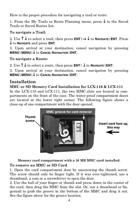 PDF manual for Lowrance GPS LCX-111C HD