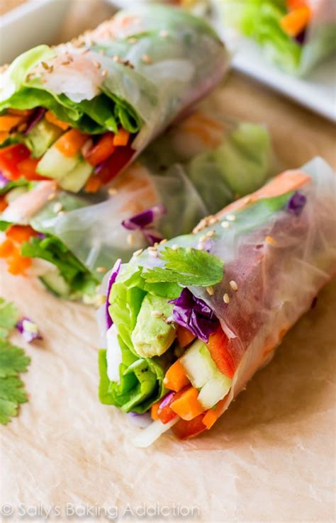 Wrap Addicts Go Nuts by Fresh Summer Rolls With Easy Peanut Dipping Sauce