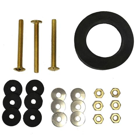 everbilt toilet bolt and gasket kit with three 5 16 in x