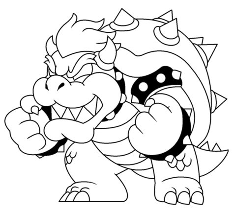 bowser coloring pages bowser coloring page free printable coloring pages