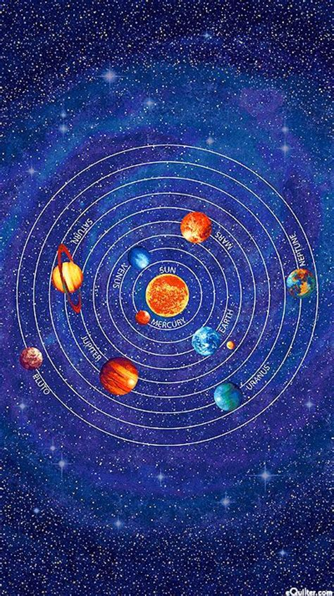 Solar System Quilt by Stonehenge Out Of This World Solar System 24 Quot X 44