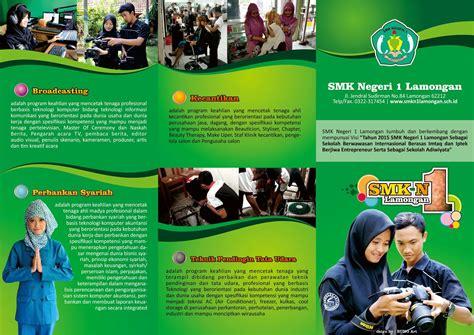 gambar desain brosur sekolah contoh brosur sekolah