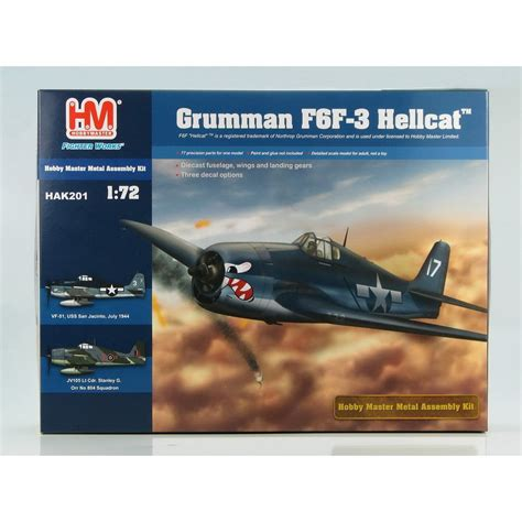 kit plans listed by manufacturer model model hobby master 1 72 hak201 grumman f6f 3 hellcat diecast