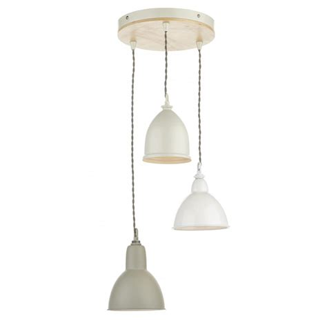 3 Light Pendants Dar Bly0343 3 Light Pendant Blyton Wooden With Metal Painted Shades
