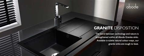 Kitchen Sinks From Abode Black Undermount Kitchen Sinks