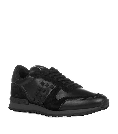 Suede Bludru Not Leather Ip55sse66s677 valentino leather and suede studded trainers in black for lyst