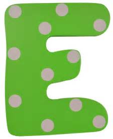 Green polka dot wall letter e modern wall letters by