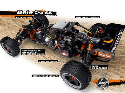 Hpi Racing Baja 5b Ss Kit 85474 Power Slipper Clutch Set 57t hpi baja 5b ss buggy kit 2014 112457 combo ebay